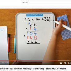 Long multiplication sums tu x tu quick method step by step teach my kids maths youtube