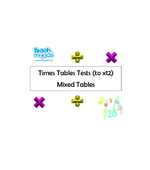 Times Tables / Division Tests (to x12) - Mixed Tables
