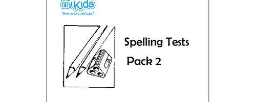 Spelling Tests - Pack 2