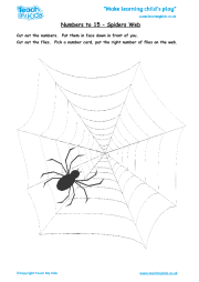 Numbers to 15 - Spiders Web