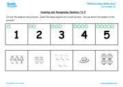 Counting and Recognising Numbers to 5