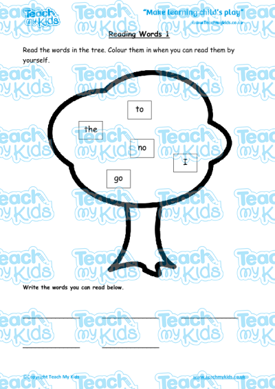 EYFS (4-5 yrs old),English Worksheets,Reading,