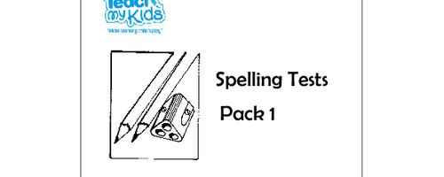 Spelling Tests - Pack 1