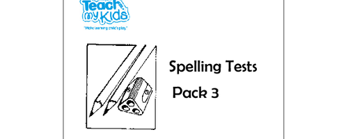 Spelling Tests - Pack 3