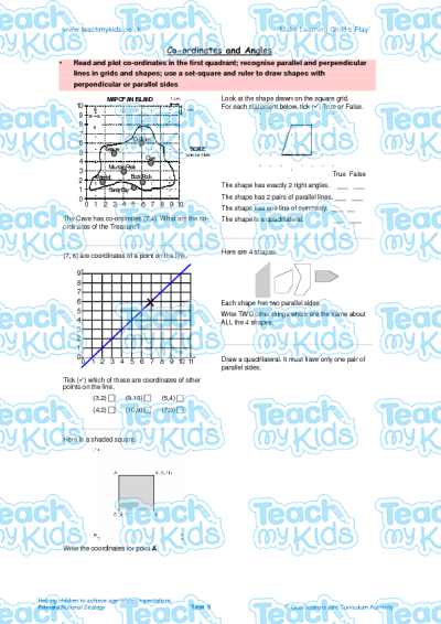 KS2, Year 5 (9-10 yrs old),Maths Worksheets,Time, Shape, Measuring, Fractions,