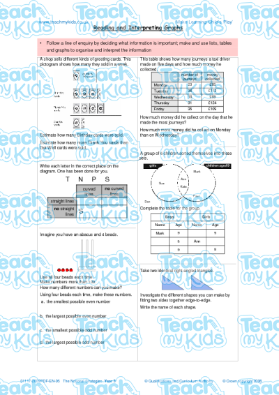 KS2, Year 3 (7-8 yrs old),Maths Worksheets,Time and Measurement,