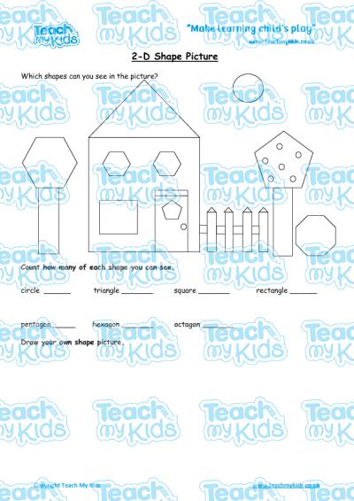 2d shape picture teach my kids. Black Bedroom Furniture Sets. Home Design Ideas