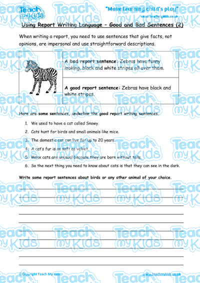 Report writing good and bad sentences 2 teach my kids report writing good and bad sentences 2 ibookread Download