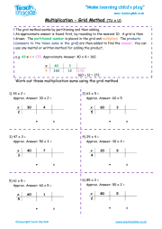 Multiplication - Grid Method tu x u