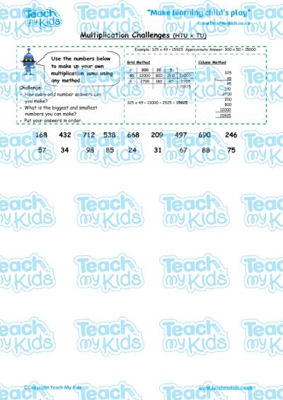 Pre School Worksheets : multiplying htu worksheets Multiplying Htu ...