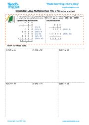 multiplication using the grid method teach my kids. Black Bedroom Furniture Sets. Home Design Ideas