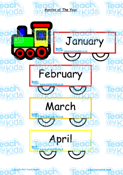 months of the year flashcards poster teach my kids