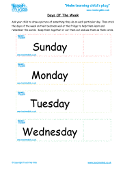 Days of the Week - Flashcards/poster