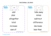 Solving Word Problems - Words to Learn