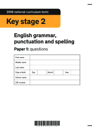 2016 KS2 SPAG Booklet, Paper 1 (questions)