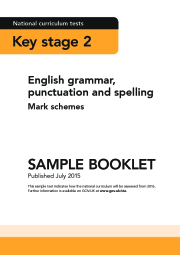 2016 KS2 English - SPAG Sample Booklets Mark Schemes