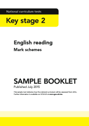 2016 KS2 English - Sample Reading Mark Schemes