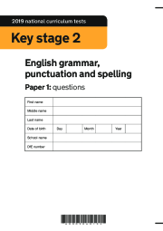 2019 KS2 SPAG Booklet, Paper 1 (questions)