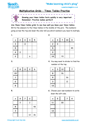 multiplication grid method htu x u teach my kids. Black Bedroom Furniture Sets. Home Design Ideas
