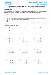math worksheet : addition using expanded column method 3  teach my kids : Expanded Column Addition Worksheets