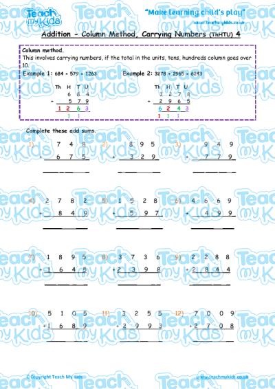 Addition Worksheets : addition worksheets htu ~ Free Printable ...