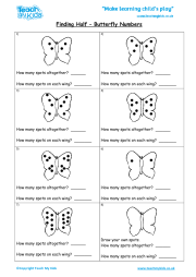 finding-half-erfly-numbers_180x Take Away Maths For Kids on number line, pre class, school games, puzzle games, game apps, subtraction worksheet, board games, game sheets, worksheet answers, addition games,