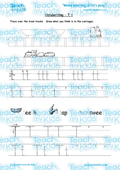 handwriting practise t t teach my kids. Black Bedroom Furniture Sets. Home Design Ideas