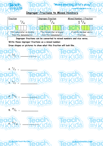 Improper fractions to mixed numbers teach my kids improper fractions to mixed numbers ibookread PDF