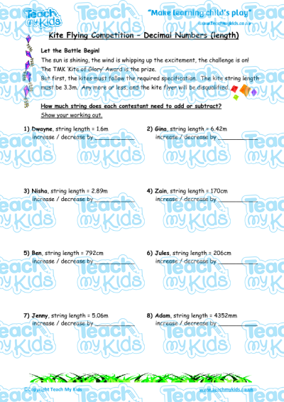 KS2, Year 6 (10-11 yrs old),Maths Worksheets,Addition / Subtraction,