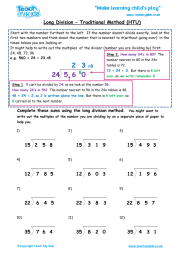 Long Division - Traditional Method htu | Teach My Kids