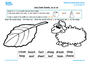 Long Vowel Sounds - ea or ee