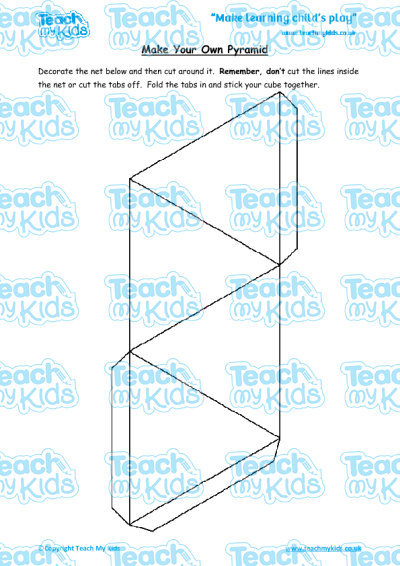 Make your own pyramid teach my kids ks2 year 4 8 9 yrs oldmaths worksheetstime ibookread