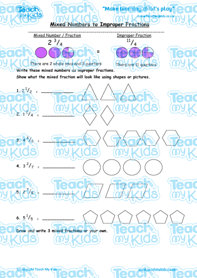 Mixed numbers to improper fractions teach my kids mixed numbers to improper fractions ibookread PDF