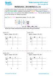 math worksheet : decimal multiplication grid method worksheet  number resources  : Ks2 Grid Method Multiplication Worksheet