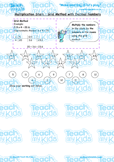 Multiplication Worksheets : multiplication worksheets lattice ...