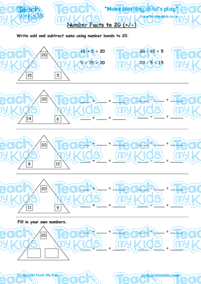 KS1, Year 2 (6-7 yrs old),Maths Worksheets,Addition,