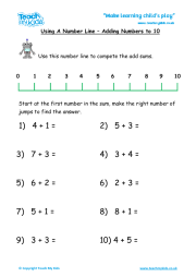 Number Line - Add to 10
