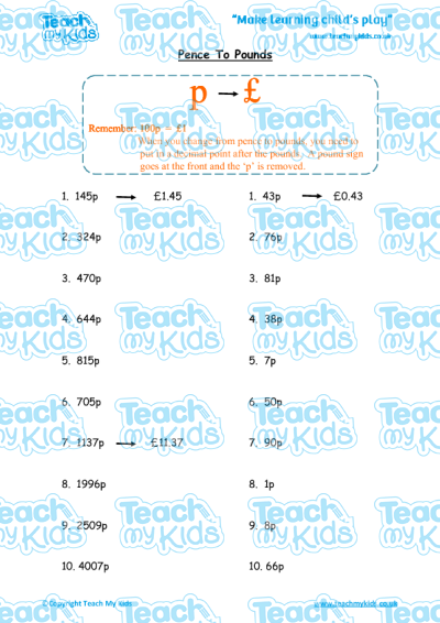 KS2, Year 4 (8-9 yrs old),Maths Worksheets,Number,