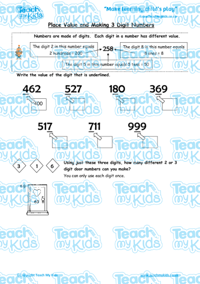 KS2, Year 3 (7-8 yrs old),Maths Worksheets,Number,