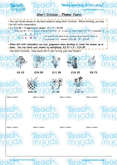 Division worksheets ks2 year 6