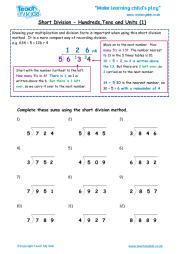 Chunking Method - Division   Teach My Kids