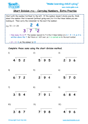 Short Division tu - Carrying Numbers (extra practise)