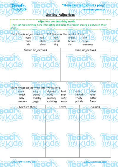 KS2, Year 3 (7-8 yrs old),English Worksheets,Grammar,