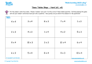 Times Tables Bingo (Hard) - x3, x4