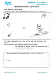 Writing Instructions - Space Scene