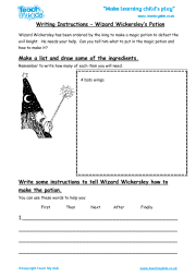 Writing Instructions - Wizard Wickersley's Potion